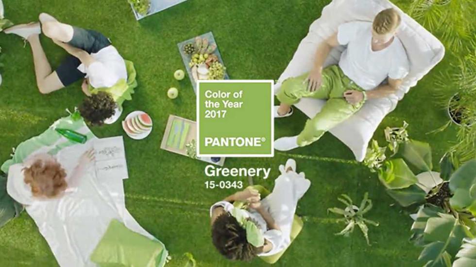 Verde ´greenery`é a aposta do ano