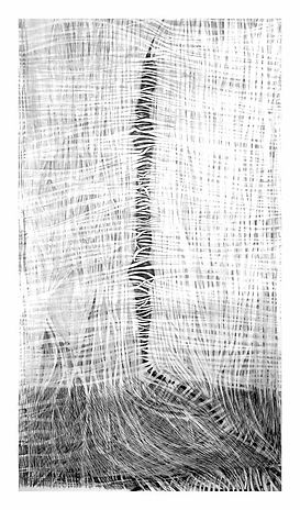 Cocooning  abstract drawing  by Jennifer O'Brien