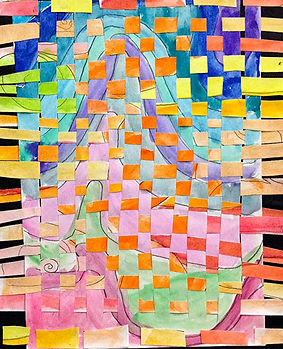 paper weaving kids paintings