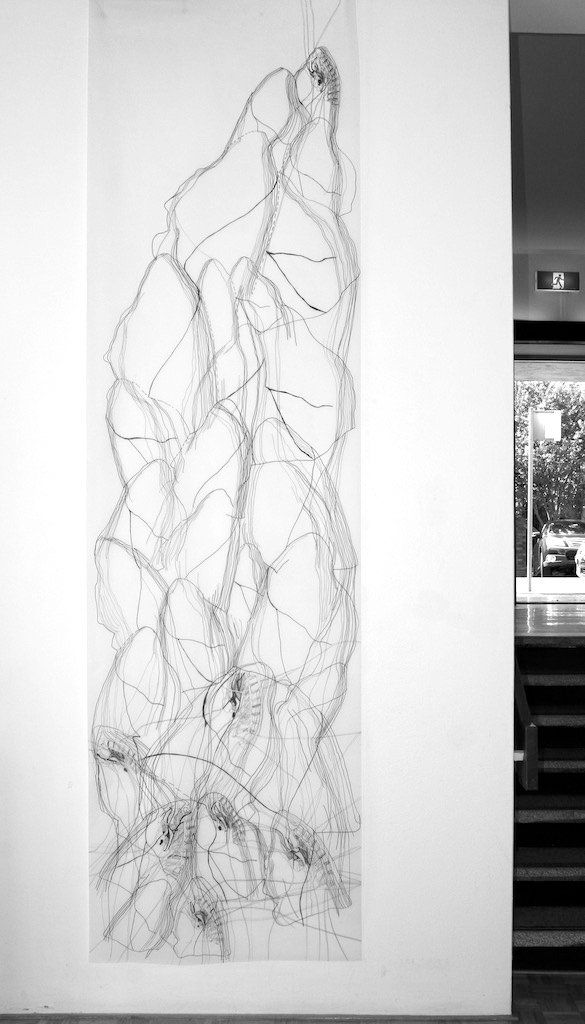 Collective Breathing, drawing installati