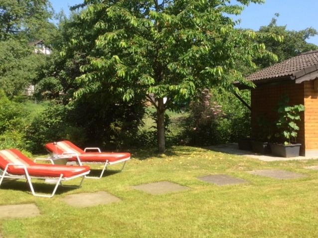 Garten mit Gartenliegen