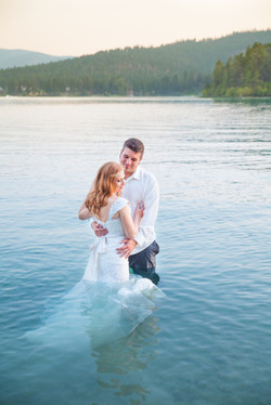 Lake Wedding Portrait 2