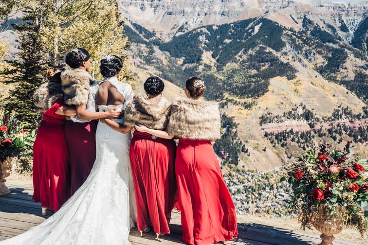 Dee and Joe's mountain wedding
