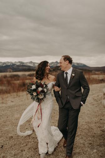 Sophie and James Winter Micro Wedding Colorado