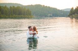 Lake Wedding Portrait 1