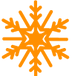 Orange Snowflake