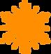 Orange Schneeflocke