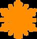 Оранжевая снежинка