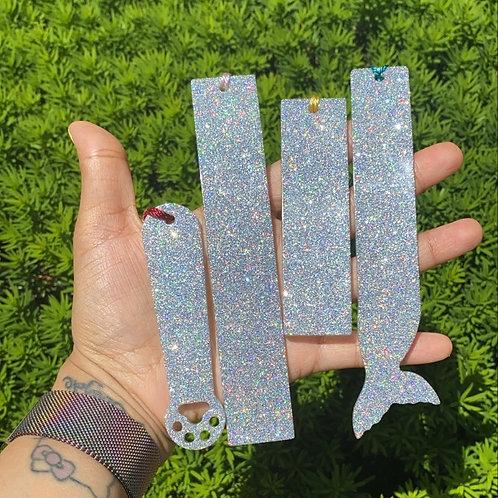 Glitter Resin Bookmark
