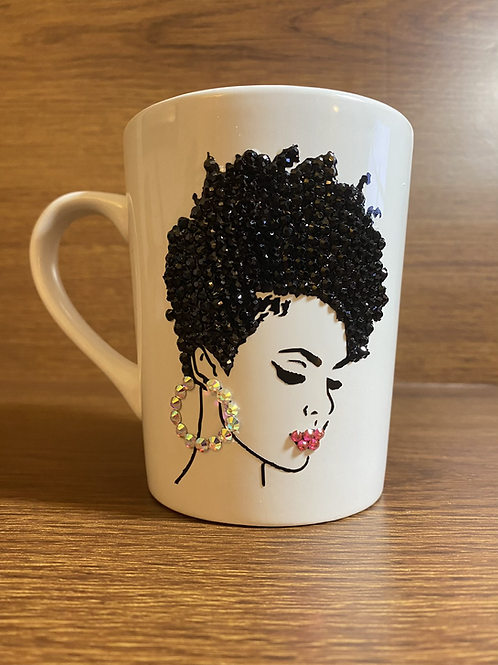 Bling Natural Tapered Fro Mug