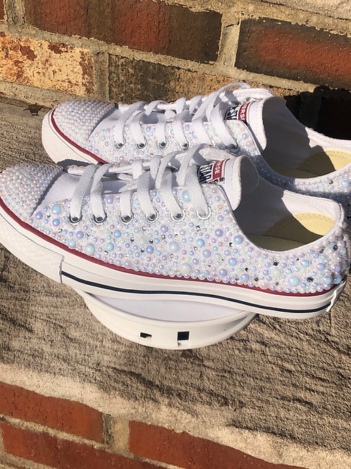 Bling or Pearl Low Top Converses (Includes sneaker)
