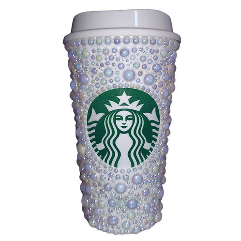 Glam Pearl Starbucks Hot Cup