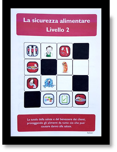 Hygiene Sue - Level 2 Study Book. Italian