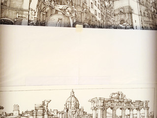 "Work in Progress : Upcoming ""Rome"" for Louis Vuitton's Travel Book collection."