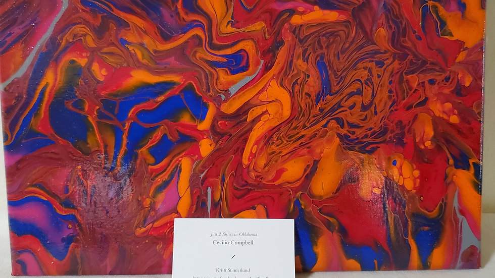 11X14 Paint Poured Stretched Canvas