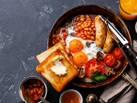 Healthier style cooked breakfast