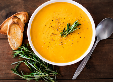 Butternut and coconut soup
