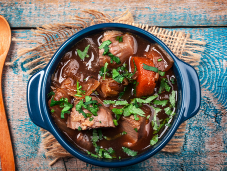 Slow cooked lamb osso buco