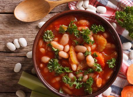 Veggie bean and kale soup