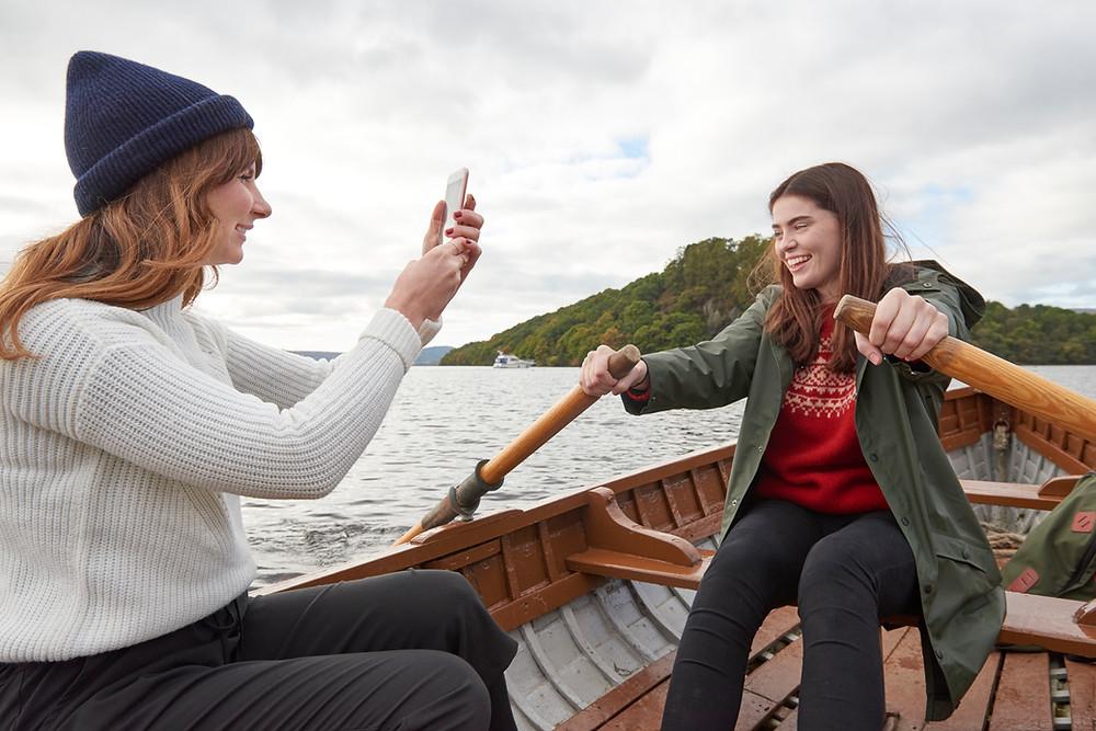 travel buddies roaming boat together