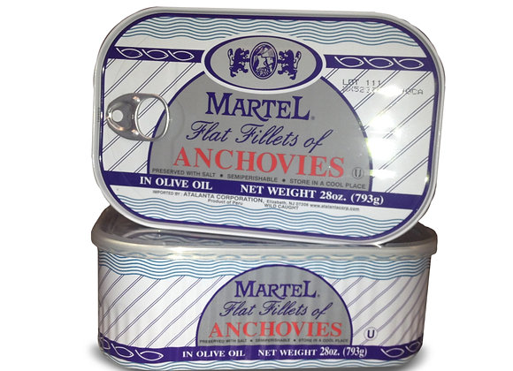 Anchovies in oil pull top MARTEL- Kosher