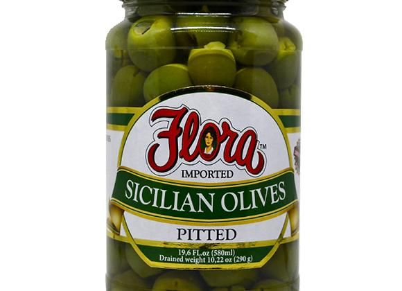 Olive Sicilian Pitten Green