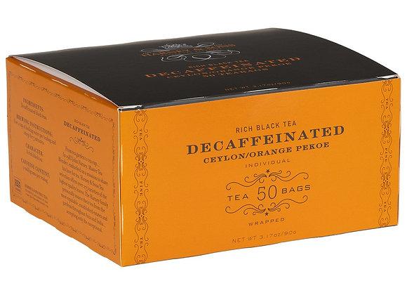 Black Decaffeinated Tea HARNEY & SONS (50 teabags per box)