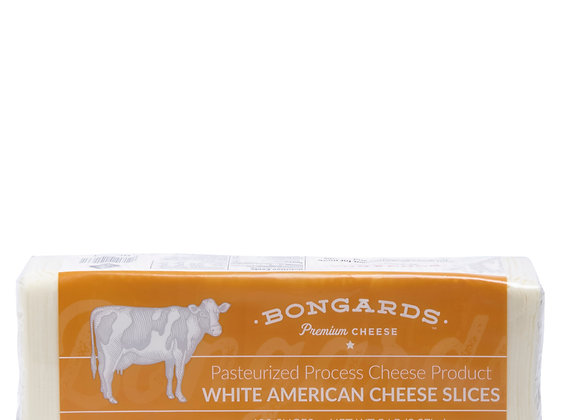 120 Sliced Stacked American White Cheese BONGUARDS  weighed by the KG