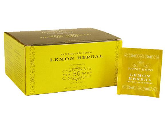 Lemon Herbal tea HARNEY & SONS (50 teabags per box)