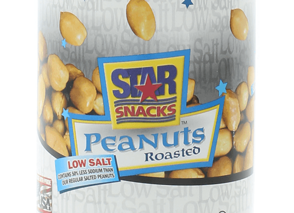 Roasted peanuts lightly salted can STAR SNACKS
