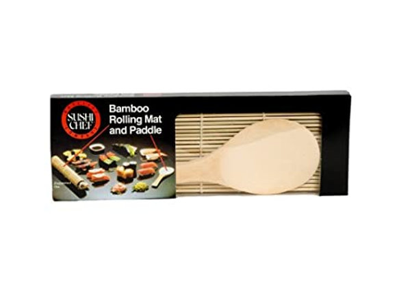 Bamboo Paddle & Mat SUSHI CHEF