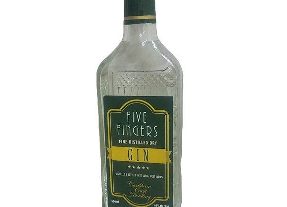 Five fingers fine distilled dry CARIBBEAN CRAFT DISTILLING