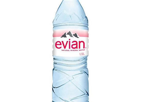 Evian Water 1.5 L plastic