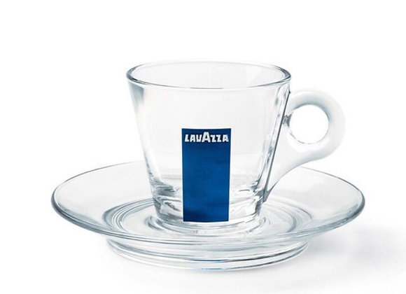 Glass Cappuccino cup blu collection