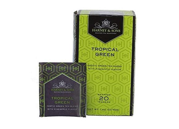 Green Tropical Green Tea HARNEY & SONS (20 teabags per box)