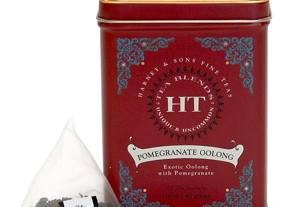Pomegranate Oolong Tin Sachets HARNEY & SONS (20 Sachets per tin)