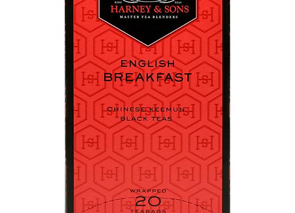 Black English Breakfast tea HARNEY & SONS (20 teabags per box)