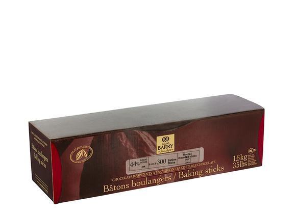 Bat. Boulanger Extruded 44% CACAO BARRY (300 chocosticks/Box)