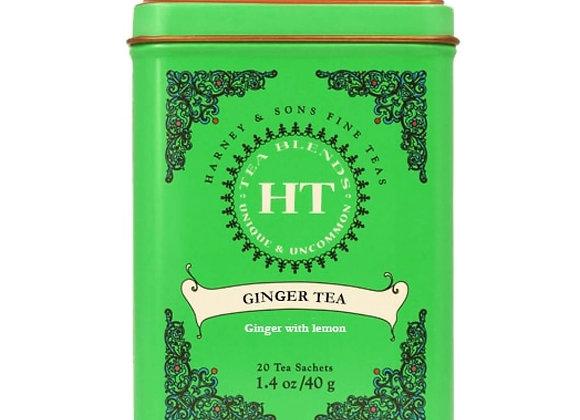 Ginger and lemon Tea HARNEY & SONS (20 Sachets per tin)