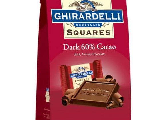 Dark chocolate squares 60% cacao GHIRADELLI