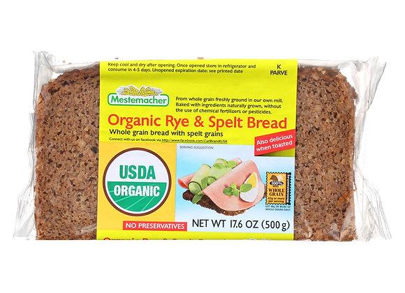Organic Rye Spelt bread