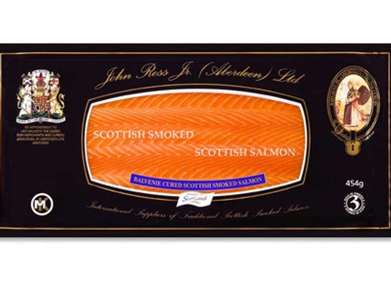 Scottish Smoked Salmon D-cut weighed by the KG