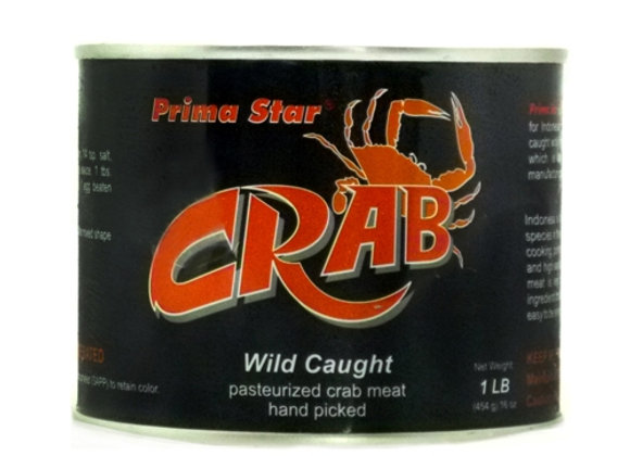 Prima Star Fsh Crab Meat Reg Lump Can Pasteurized