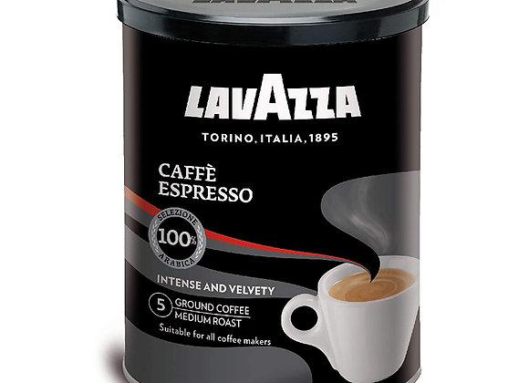 Espresso Ground (12/8oz) 250g(Makes 35 cups) black tin- Kosher