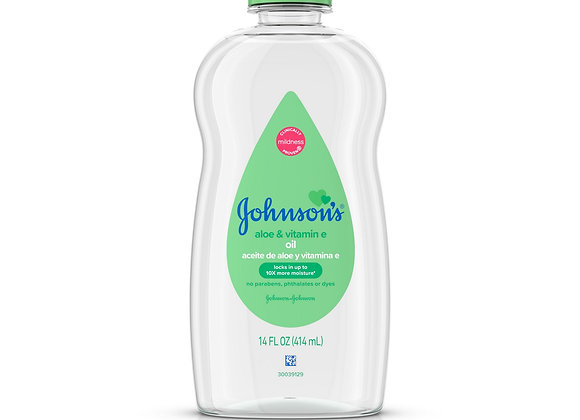 Johnson B/Oil Aloe+Vit E 14oz