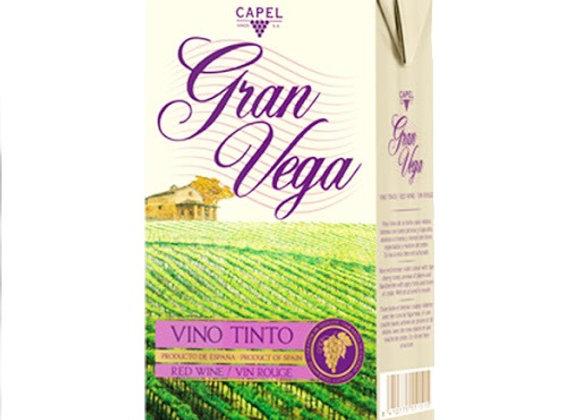 Semi Sweet Red Wine GRAN VEGA - 12% Alc. tetra pack