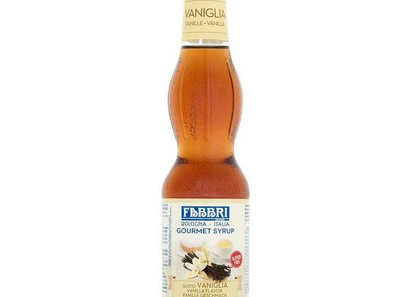 Vanilla Gourmet Syrup FABBRI - Glass Bottles