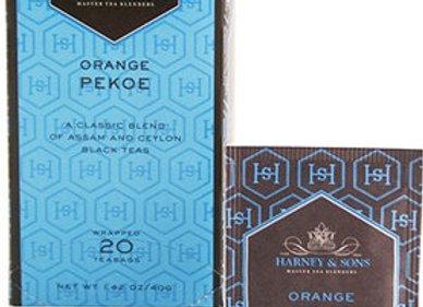 Black Ceylon & India Orange Pekoe Tea HARNEY & SONS (20 teabags per box)