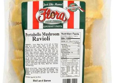 Frozen Ravioli Portobello Gourmet Filled FLORA (10 x 1lb)