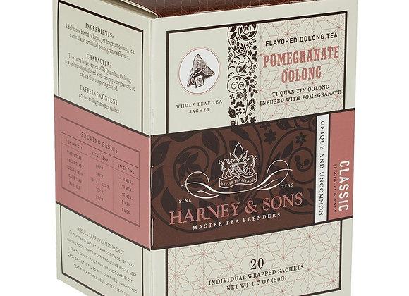 Pomegranate Oolong Sachets HARNEY & SONS (20 Sachets per box)